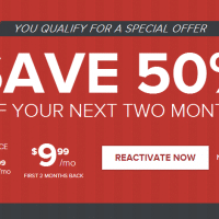 50% off your next two months