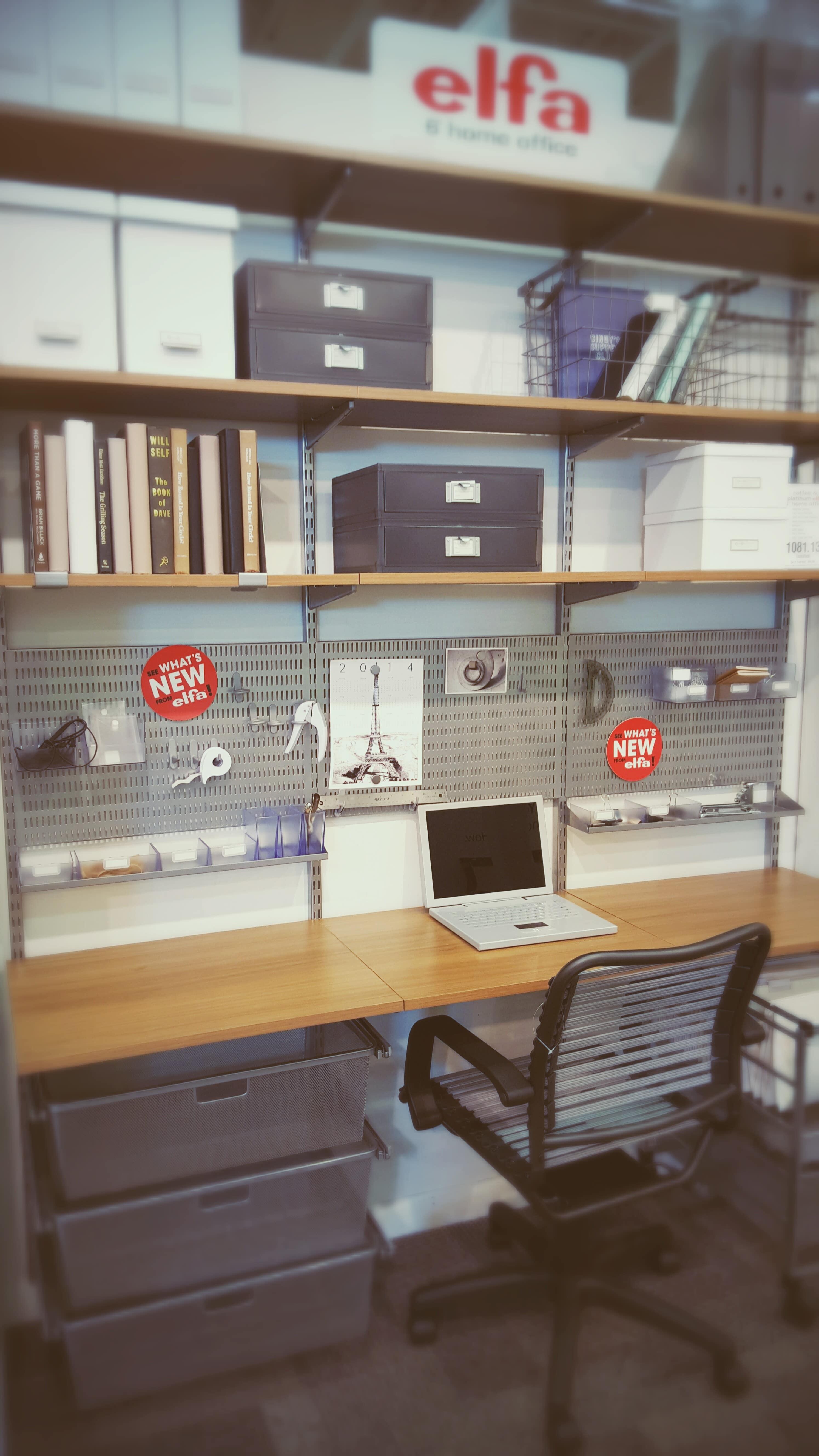 Elfa Home Office Example Setup