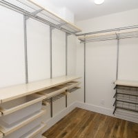 Finished closet, additional view