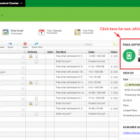 GoDaddy email setup button