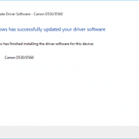I manually extracted the driver using 7-zip then installed it. Voila, updated driver :-)