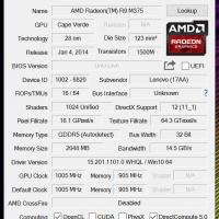 AMD Radeon R9 M375 2GB DDR5 GPU-Z details
