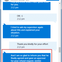 Refund request approved!