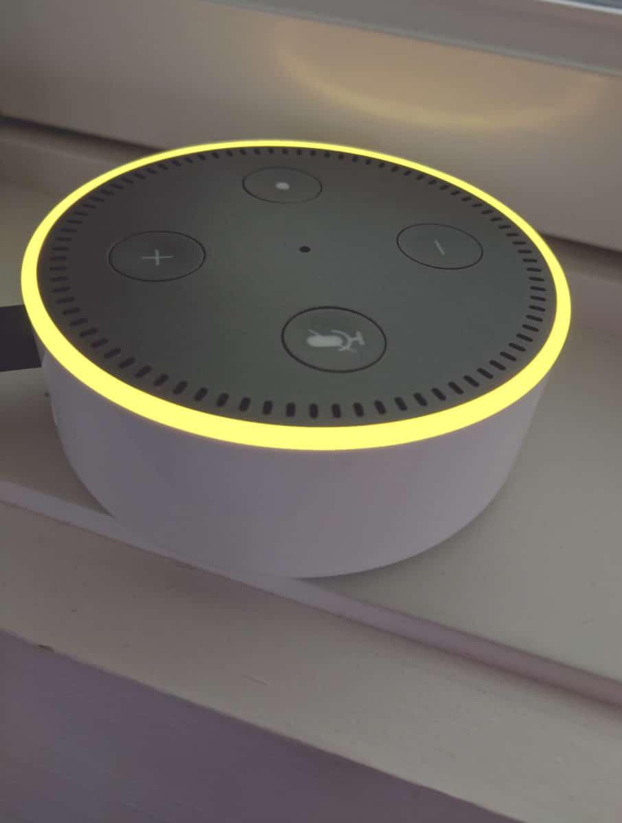 Amazon Echo Yellow Ring