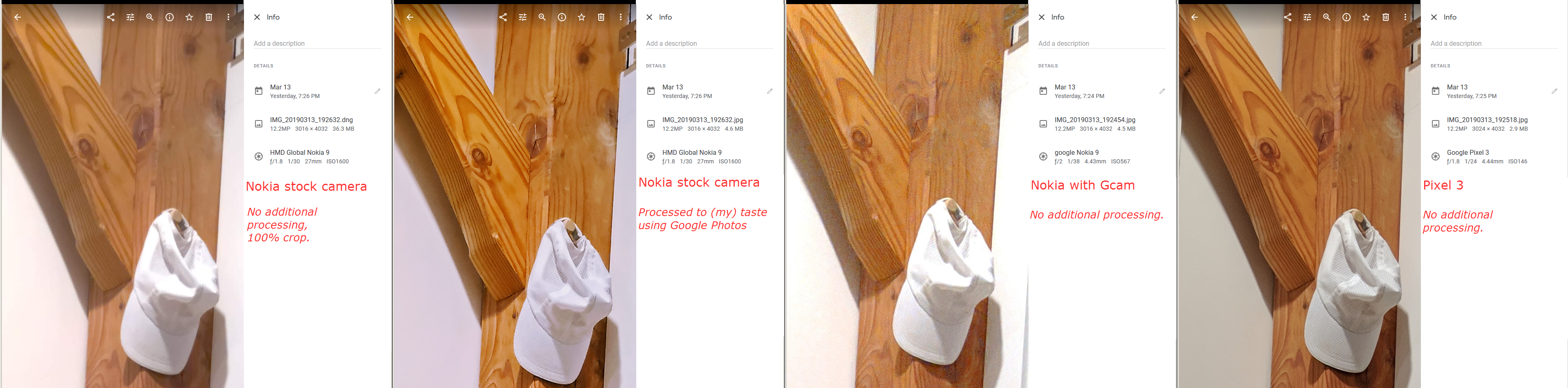 Nokia 9 PureView camera sample photos vs  Gcam vs  Pixel 3